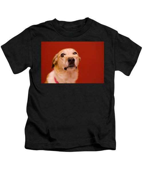 Abbie And A Milky Bone Kids T-Shirt