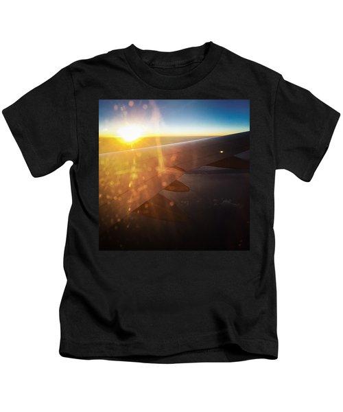 Above The Clouds 03 Warm Sunlight Kids T-Shirt