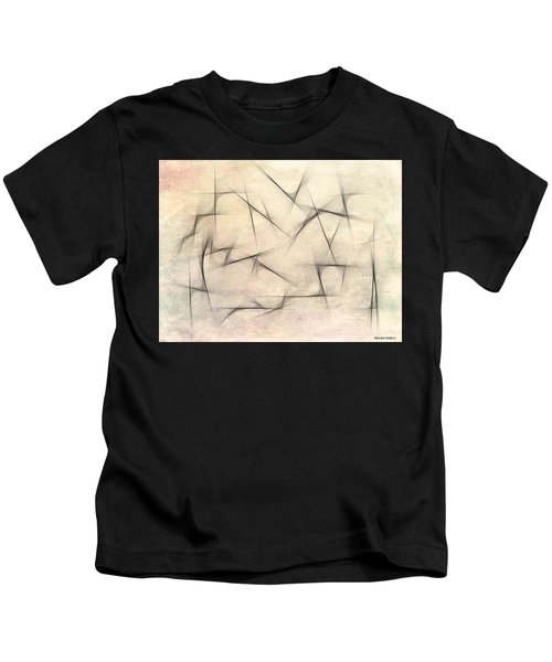 Kids T-Shirt featuring the painting Abstract 1999 by Marian Palucci-Lonzetta