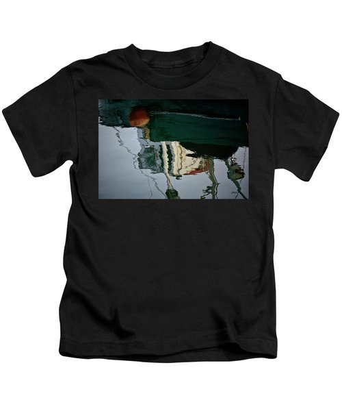Abstract Boat Reflection II Kids T-Shirt
