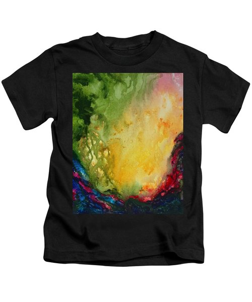 Abstract Color Splash Kids T-Shirt