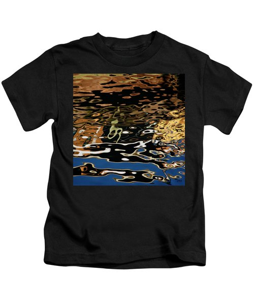 Abstract Dock Reflections II Color Sq Kids T-Shirt