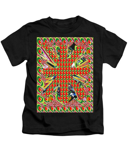 Abstract Flowers Floral Leaf Leaves Colorful Modern Art Navinjoshi Fineartamerica Pixels Kids T-Shirt