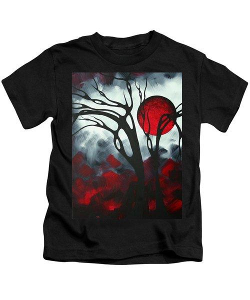 Abstract Gothic Art Original Landscape Painting Imagine I By Madart Kids T-Shirt