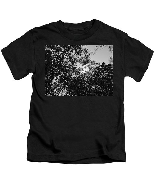 Abstract Leaves Sun Sky Kids T-Shirt