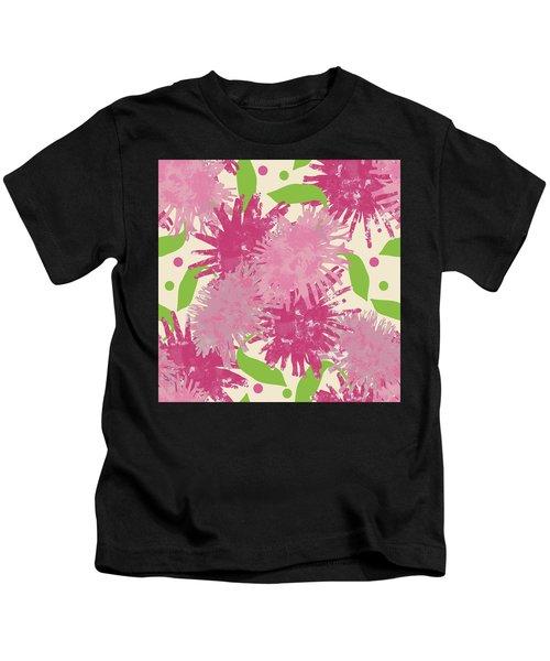Abstract Pink Puffs Kids T-Shirt