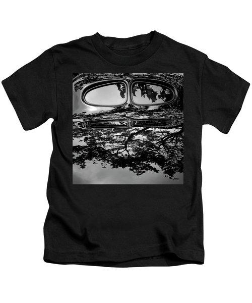 Abstract Reflection Bw Sq II - Vehicle Kids T-Shirt