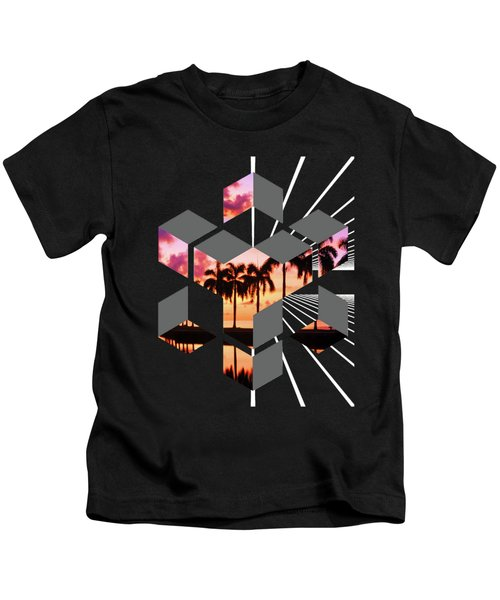 Abstract Space 3 Kids T-Shirt by Russell K