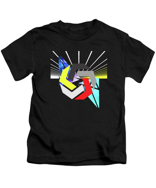 Abstract Space 6 Kids T-Shirt by Russell K