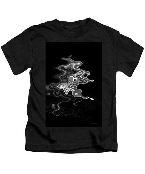 Abstract Swirl Monochrome Kids T-Shirt