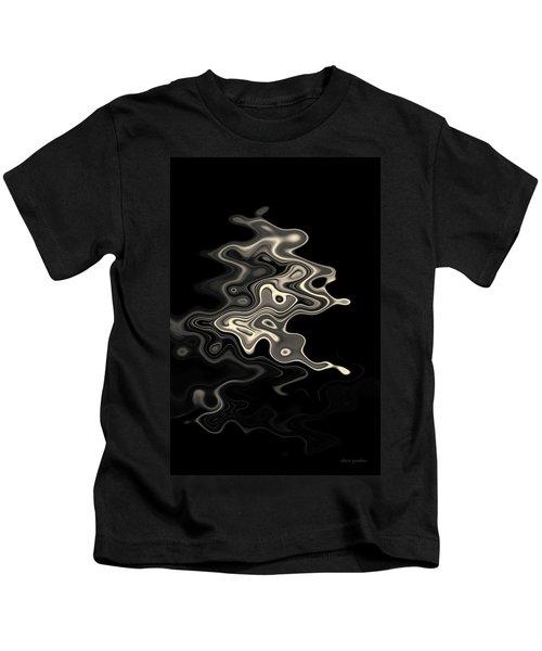 Abstract Swirl Monochrome Toned Kids T-Shirt