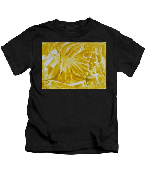 Abstract Yellow  Kids T-Shirt