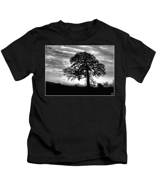 Acacia And Volcano Silhouetted Kids T-Shirt