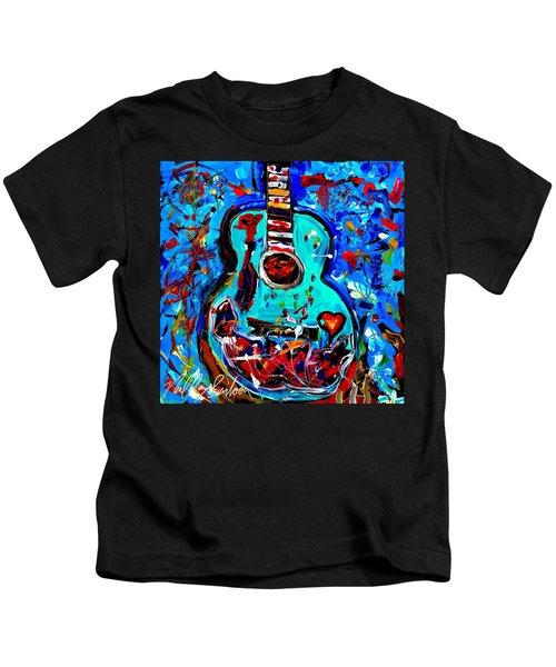 Acoustic Love Guitar Kids T-Shirt