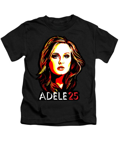 Adele 25-1 Kids T-Shirt by Tim Gilliland