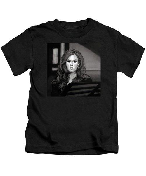 Adele Mixed Media Kids T-Shirt by Paul Meijering