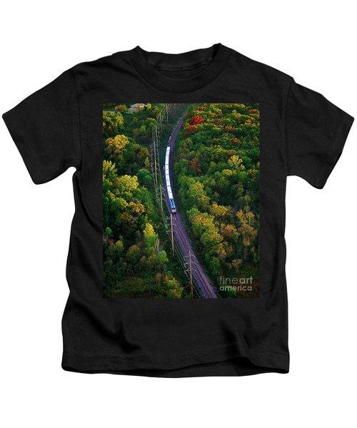 Aerial Of  Commuter Train  Kids T-Shirt