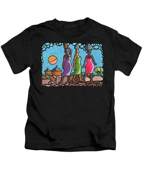African Cat Walk Kids T-Shirt