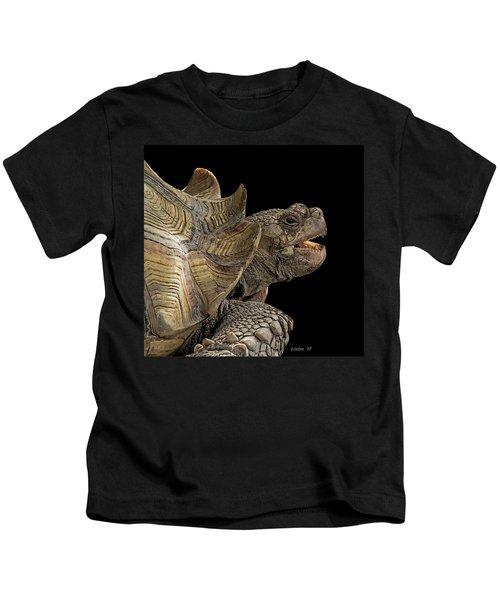 African Spurred Tortoise Kids T-Shirt