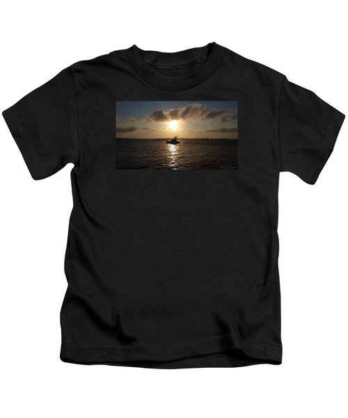 After A Long Day Of Fishing Kids T-Shirt