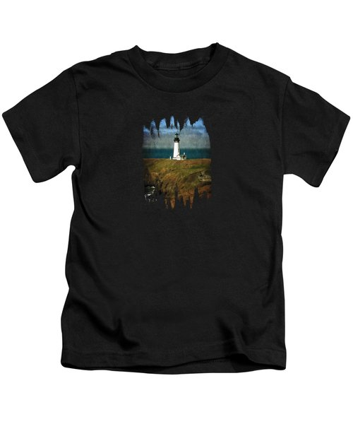 Afternoon At The Yaquina Head Lighthouse Kids T-Shirt