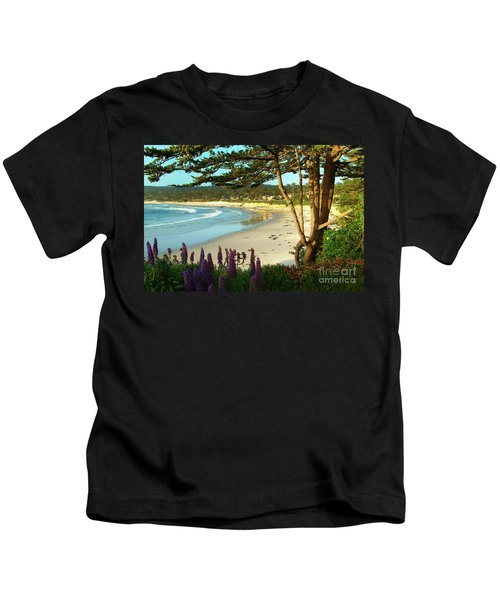 Afternoon On Carmel Beach Kids T-Shirt