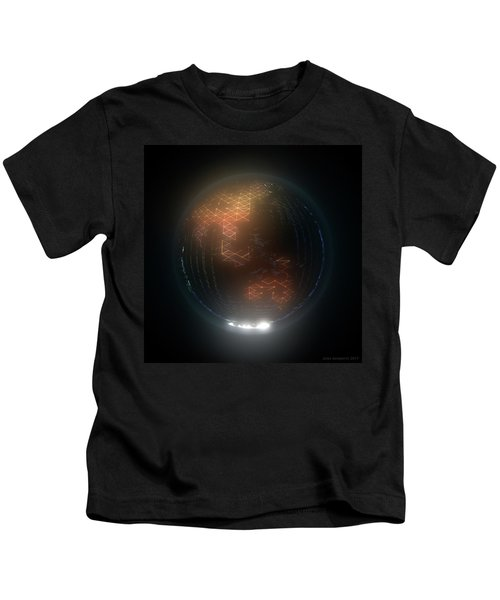 Albedo - Asia And Australasia By Night Kids T-Shirt