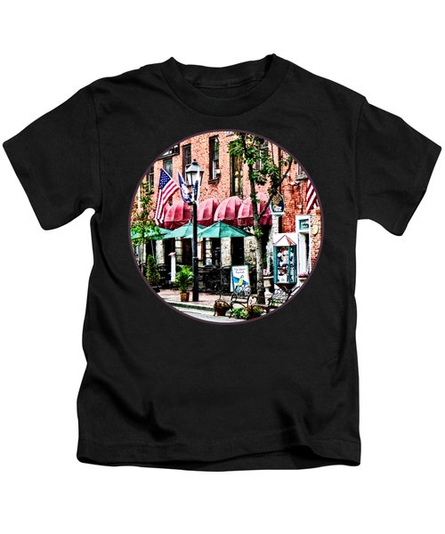 Alexandria Street With Cafe Kids T-Shirt