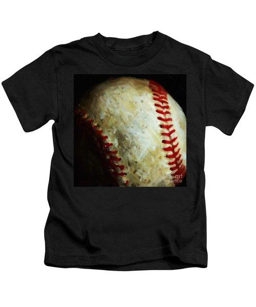 All American Pastime - Baseball - Square - Painterly Kids T-Shirt