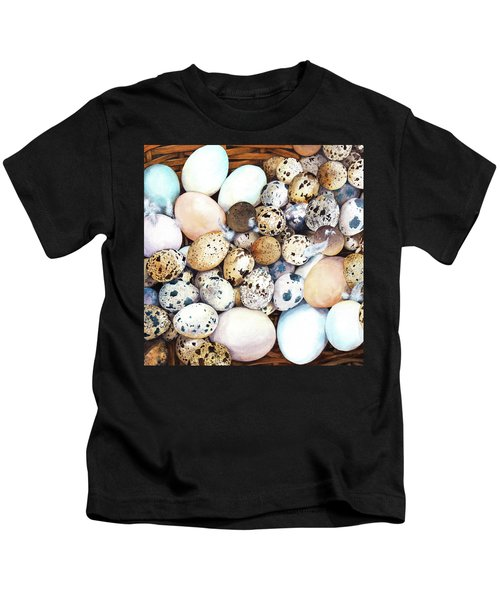 All My Eggs In One Basket Birds Egg Print Kids T-Shirt