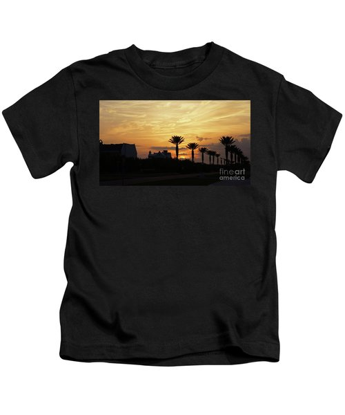 Alys At Sunset Kids T-Shirt