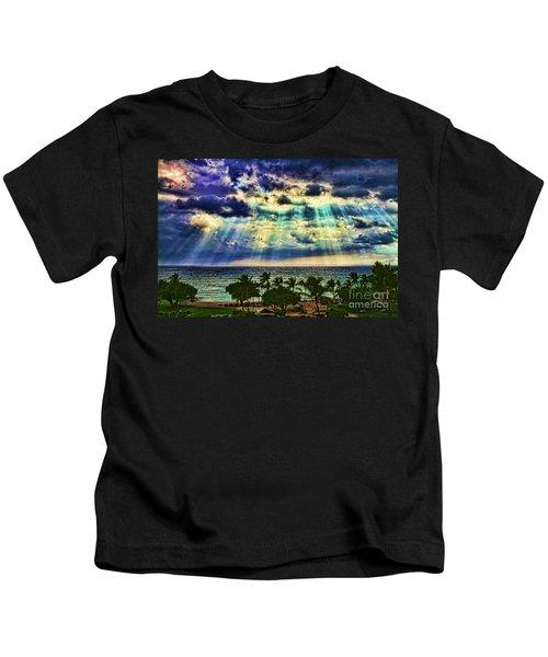 Amazing Grace - Sun Rays Before Sunset By Diana Sainz Kids T-Shirt