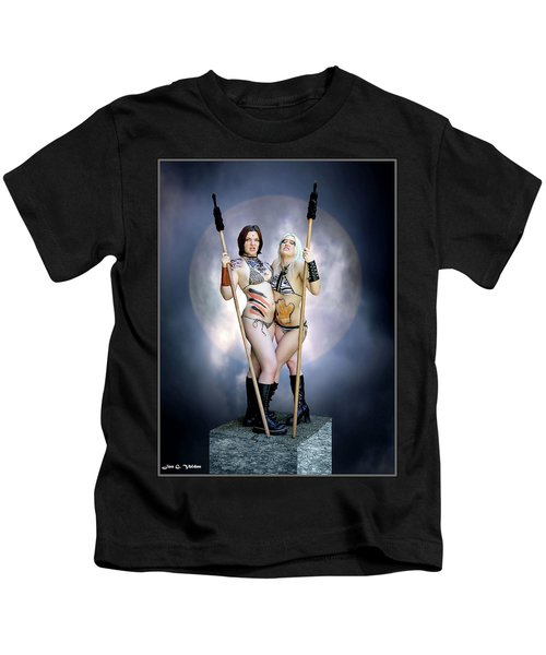 Amazon With Spears Kids T-Shirt