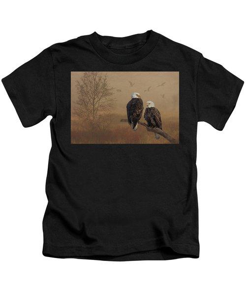 American Bald Eagle Family Kids T-Shirt