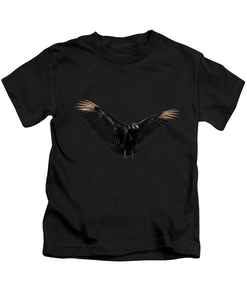 American Black Vulture Kids T-Shirt by Zina Stromberg