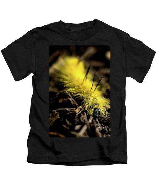 American Dagger Moth Caterpillar Kids T-Shirt