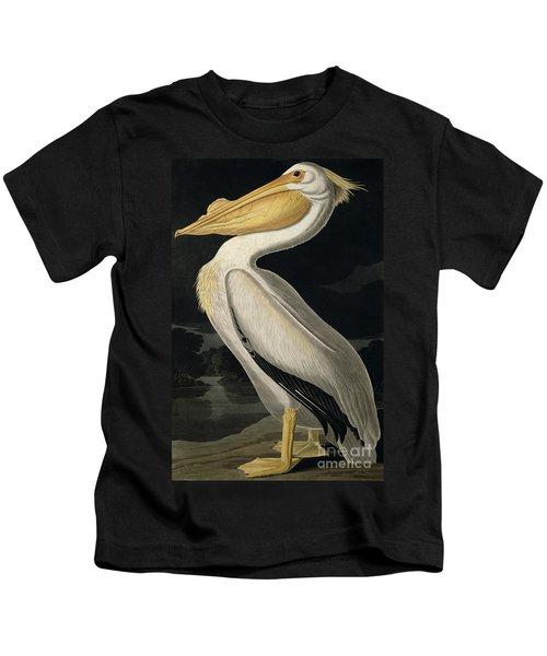 American White Pelican Kids T-Shirt