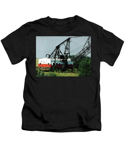 Abandoned Dragline Excavator In Amish Country Kids T-Shirt