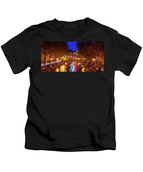 Amsterdam By Night Kids T-Shirt