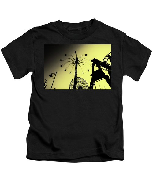 Amusements In Silhouette Kids T-Shirt