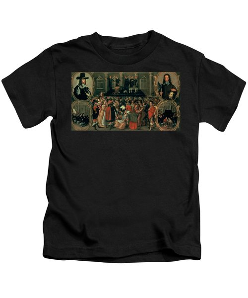 An Eyewitness Representation Of The Execution Of King Charles I Kids T-Shirt