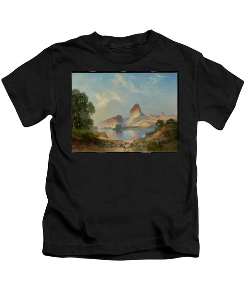 An Indian Paradise , Green River, Wyoming Kids T-Shirt