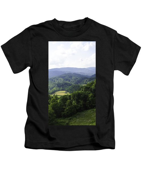 An Old Shack Hidden Away In The Blue Ridge Mountains Kids T-Shirt