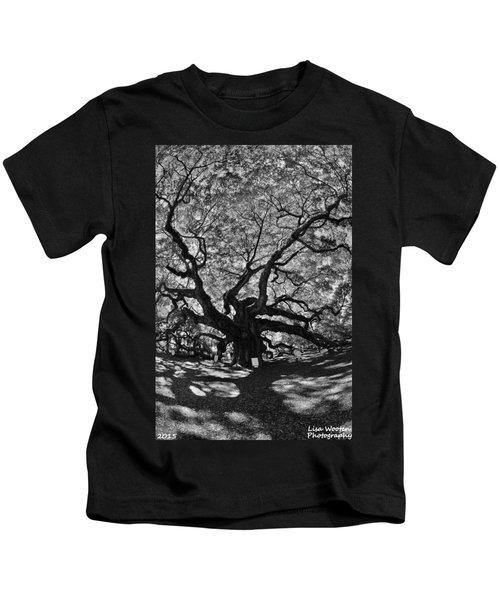 Angel Oak Johns Island Black And White Kids T-Shirt
