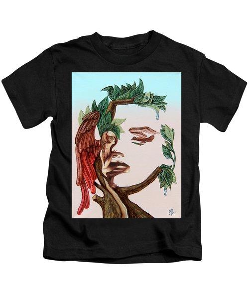 Angel, Watching The Reincarnation Of Marilyn Monro. Op.2769 Kids T-Shirt