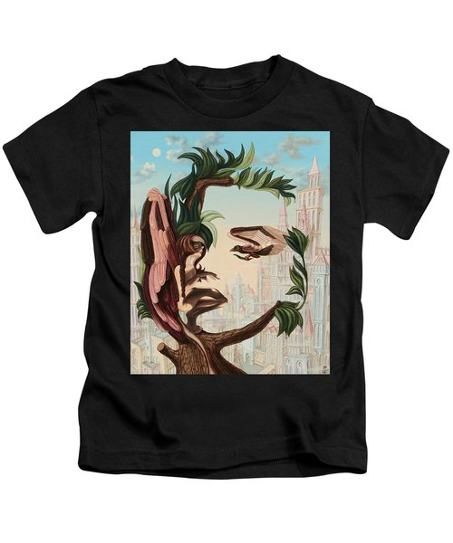 Angel, Watching The Reincarnation Of Marilyn Monroe On The Swinging City Towers Kids T-Shirt