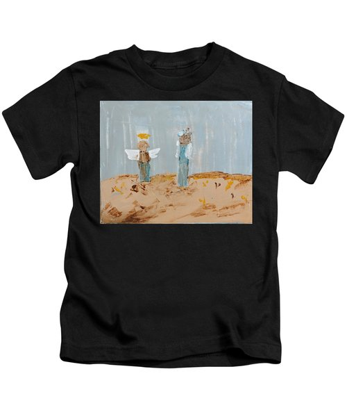 Angels Taking Care Of E Kids T-Shirt