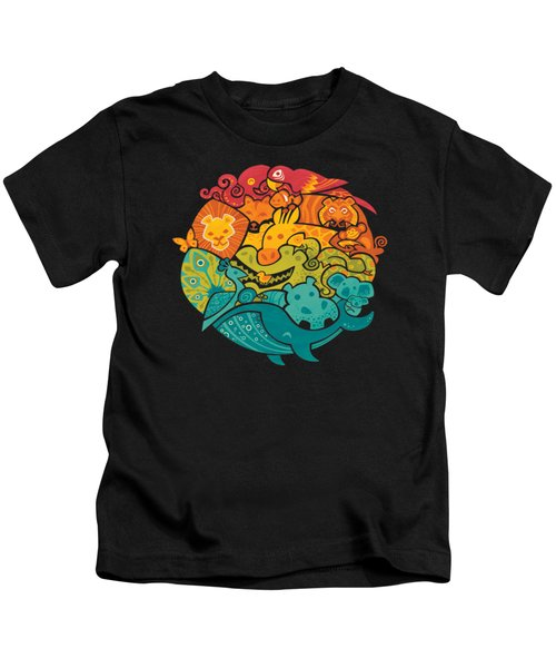 Animals Of The World Kids T-Shirt by Craig Carr