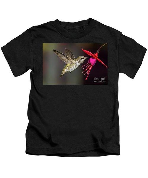 Anna Immature Hummingbird Kids T-Shirt