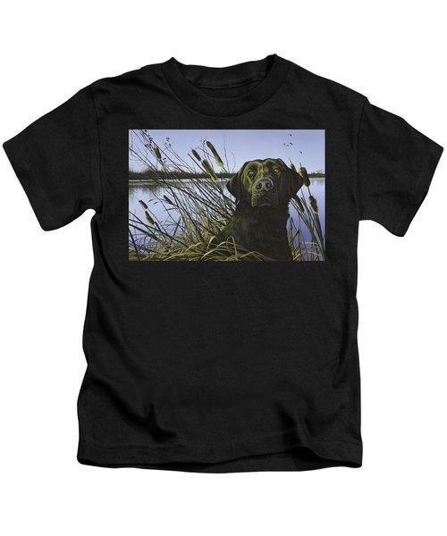 Anticipation - Black Lab Kids T-Shirt